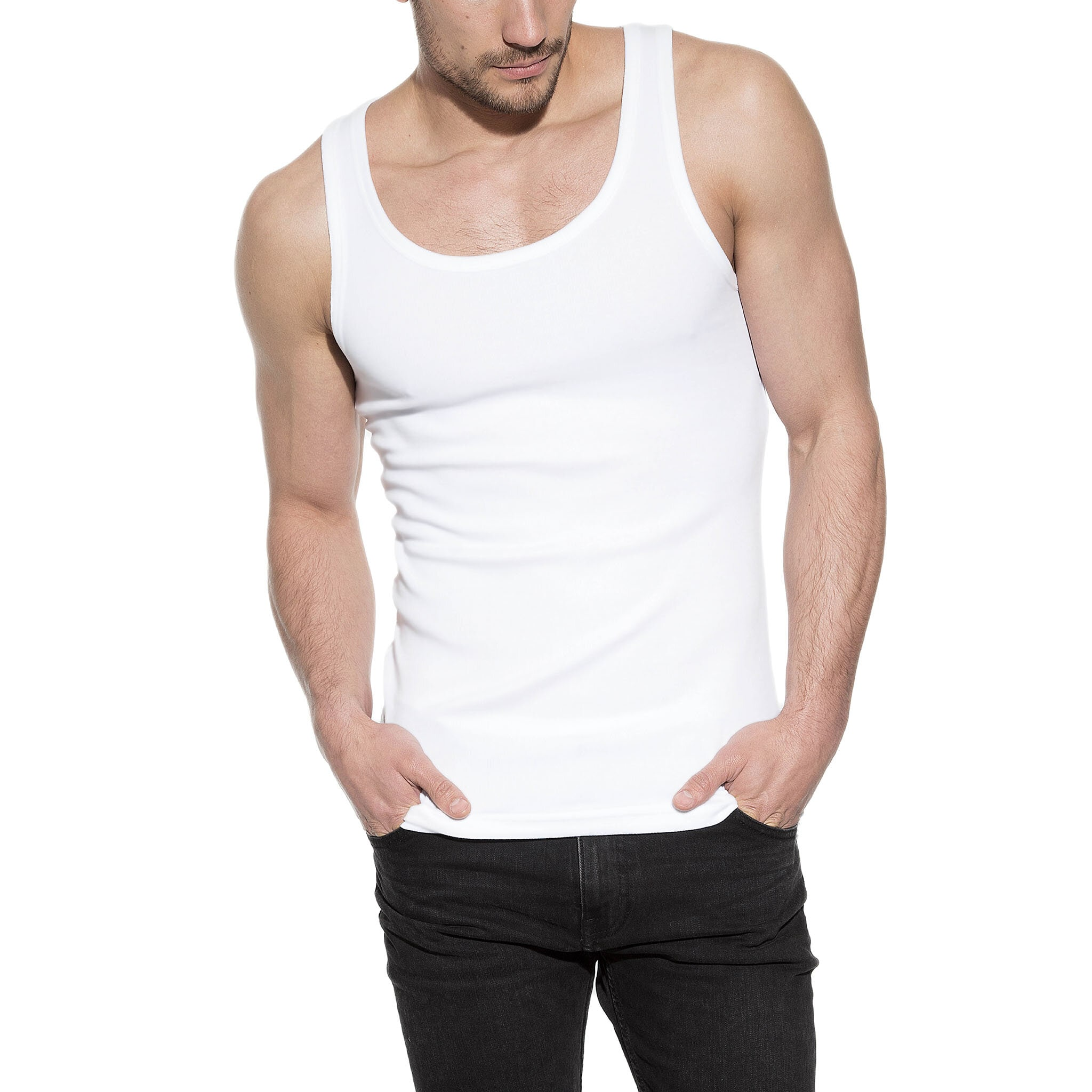 Tank cotton-stretch 2-pack