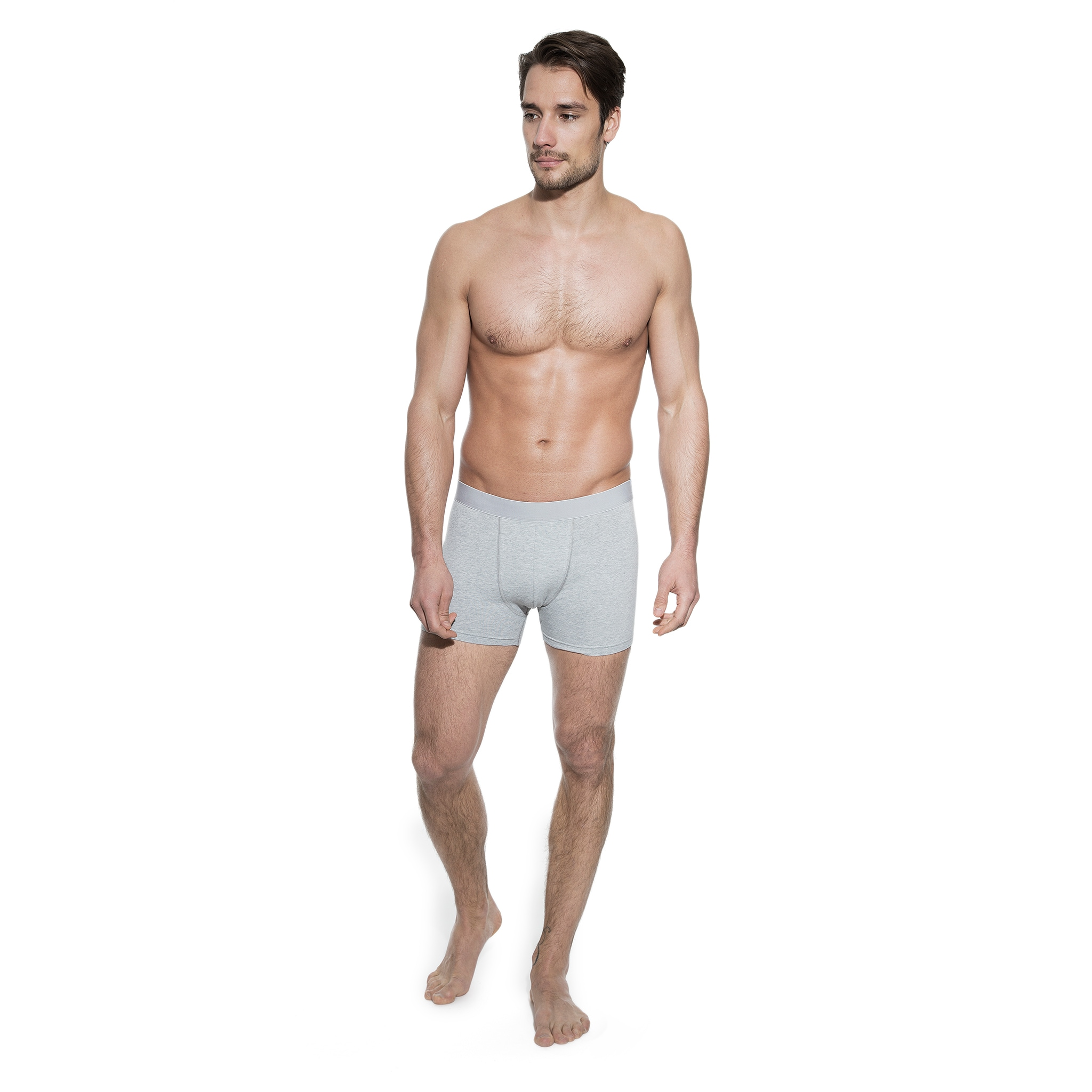 202203 Man_Boxer Brief_Grey Melange