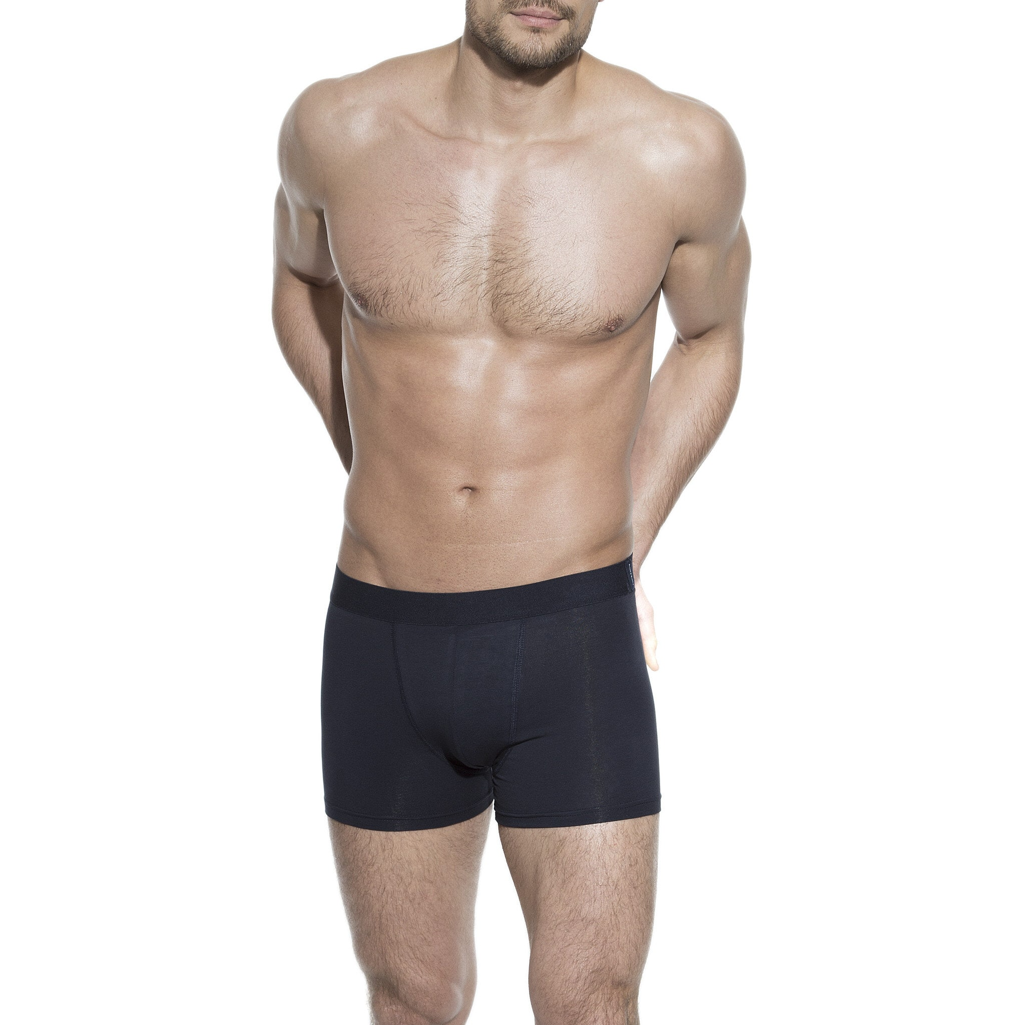 Boxer brief dark navy for men in organic cotton